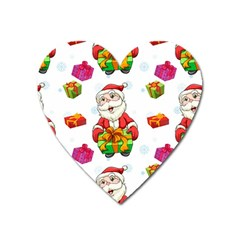Xmas Patterns  Heart Magnet by Onesevenart