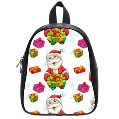 Xmas Patterns  School Bags (small)  by Onesevenart