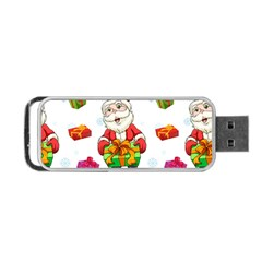 Xmas Patterns  Portable Usb Flash (two Sides) by Onesevenart