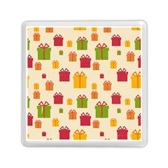 Christmas Gift Box Vector Seamless Pattern Vector Memory Card Reader (square)  by Onesevenart