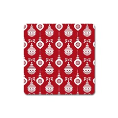 Abstract Christmas Seamless Background Vector Graphic Square Magnet by Onesevenart
