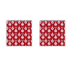 Abstract Christmas Seamless Background Vector Graphic Cufflinks (square) by Onesevenart
