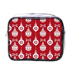 Abstract Christmas Seamless Background Vector Graphic Mini Toiletries Bags by Onesevenart