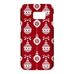 Abstract Christmas Seamless Background Vector Graphic Samsung Galaxy S7 Hardshell Case