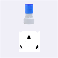 Christmas Tree With Snow Seamless Pattern Vector Rubber Round Stamps (small) by Onesevenart