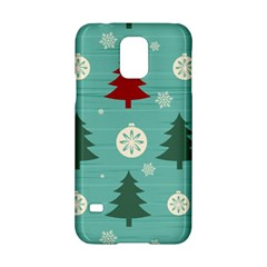 Christmas Tree With Snow Seamless Pattern Vector Samsung Galaxy S5 Hardshell Case  by Onesevenart