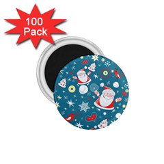 Christmas Stockings Vector Pattern 1 75  Magnets (100 Pack)  by Onesevenart