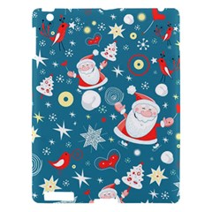 Christmas Stockings Vector Pattern Apple Ipad 3/4 Hardshell Case by Onesevenart