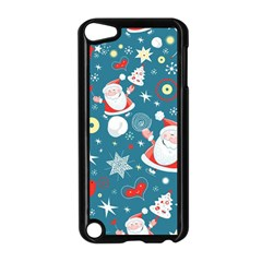 Christmas Stockings Vector Pattern Apple Ipod Touch 5 Case (black) by Onesevenart