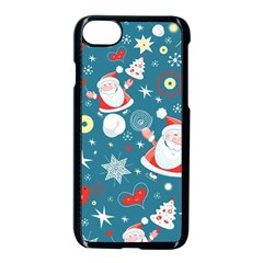 Christmas Stockings Vector Pattern Apple Iphone 7 Seamless Case (black) by Onesevenart