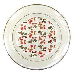 Simple Garden Porcelain Plates by Valentinaart