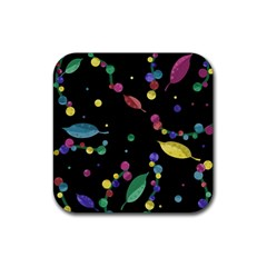 Space Garden Rubber Coaster (square)  by Valentinaart