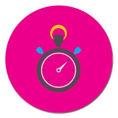 Alarm Clock Houre Magnet 5  (round) by AnjaniArt