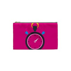 Alarm Clock Houre Cosmetic Bag (small)  by AnjaniArt