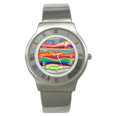 Colorfull Rainbow Stainless Steel Watch by AnjaniArt