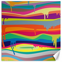 Colorfull Rainbow Canvas 16  X 16   by AnjaniArt