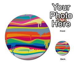 Colorfull Rainbow Multi Purpose Cards (round)  by AnjaniArt