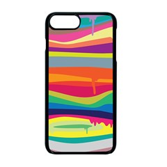 Colorfull Rainbow Apple Iphone 7 Plus Seamless Case (black)