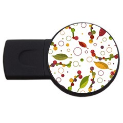Adorable Floral Design Usb Flash Drive Round (4 Gb)  by Valentinaart