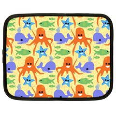 Calamari Squid Whale Netbook Case (large) by AnjaniArt