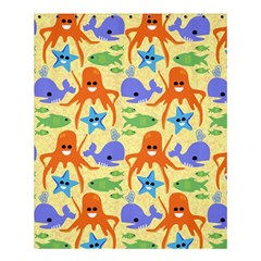 Calamari Squid Whale Shower Curtain 60  X 72  (medium)  by AnjaniArt