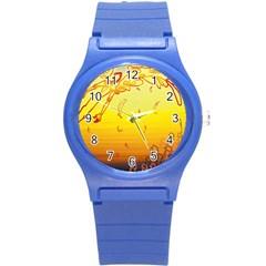 Angel Round Plastic Sport Watch (s) by AnjaniArt