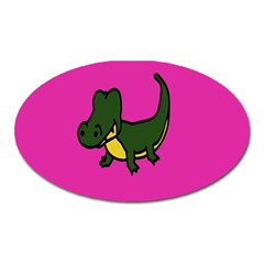 Crocodile Oval Magnet