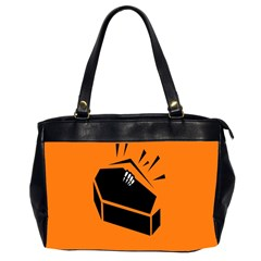 Creepy Skeleton Hand Coming Office Handbags (2 Sides)  by AnjaniArt