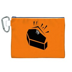 Creepy Skeleton Hand Coming Canvas Cosmetic Bag (xl) by AnjaniArt