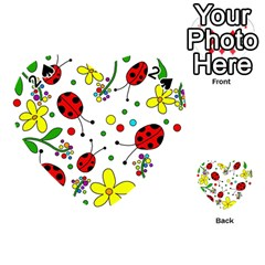 Ladybugs Playing Cards 54 (heart)  by Valentinaart