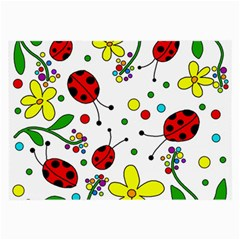 Ladybugs Large Glasses Cloth (2 Side) by Valentinaart