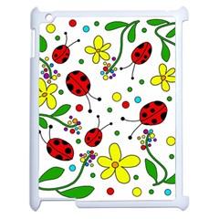 Ladybugs Apple Ipad 2 Case (white) by Valentinaart