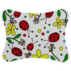 Ladybugs Jigsaw Puzzle Photo Stand (Bow) by Valentinaart