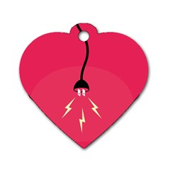 Electric Jack Dog Tag Heart (Two Sides) by AnjaniArt