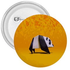Cute Panda 3  Buttons by AnjaniArt