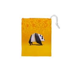 Cute Panda Drawstring Pouches (xs)  by AnjaniArt