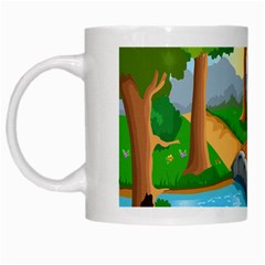Cute Cartoon White Mugs