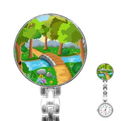 Cute Cartoon Stainless Steel Nurses Watch by AnjaniArt