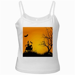 Day Halloween Night Ladies Camisoles by AnjaniArt