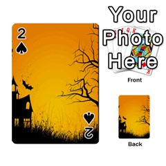 Day Halloween Night Playing Cards 54 Designs  by AnjaniArt