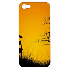 Day Halloween Night Apple Iphone 5 Hardshell Case by AnjaniArt