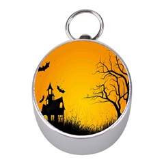 Day Halloween Night Mini Silver Compasses by AnjaniArt