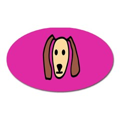 Face Dog Oval Magnet by AnjaniArt