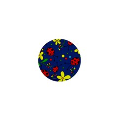 Ladybugs   Blue 1  Mini Magnets by Valentinaart