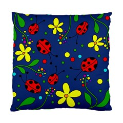 Ladybugs   Blue Standard Cushion Case (one Side) by Valentinaart