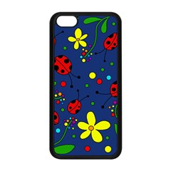 Ladybugs   Blue Apple Iphone 5c Seamless Case (black) by Valentinaart