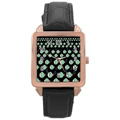 Fish Rose Gold Leather Watch  by AnjaniArt