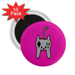 Game Pink 2 25  Magnets (10 Pack)  by AnjaniArt