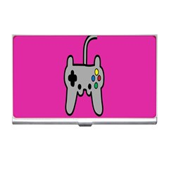 Game Pink Business Card Holders by AnjaniArt