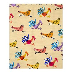 Chicken Shower Curtain 60  X 72  (medium)  by AnjaniArt